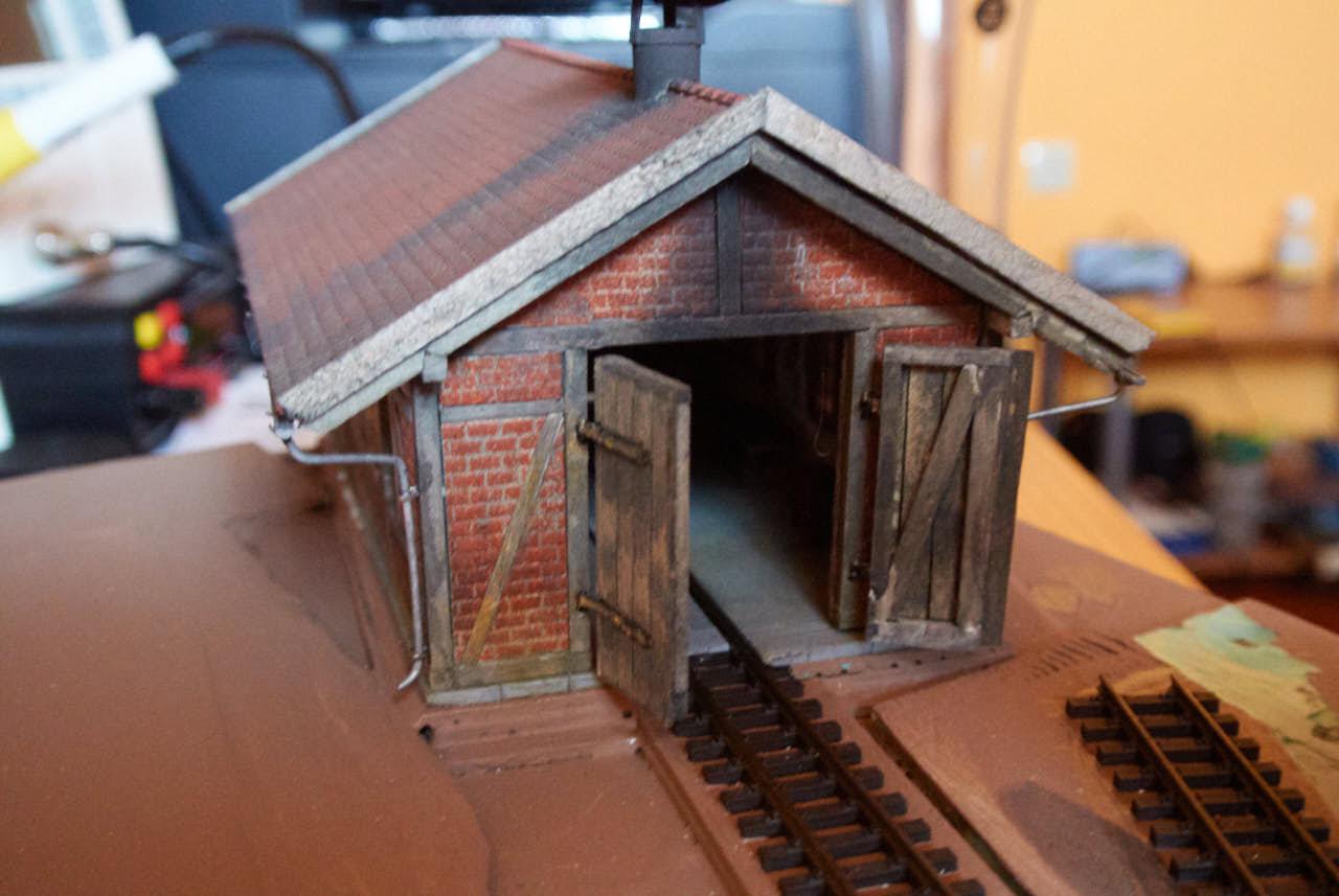 Delavnica za popravilo lokomotiv za modulno H0e maketo – 6. del